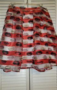 Sheer Lip skirt with slip underneath